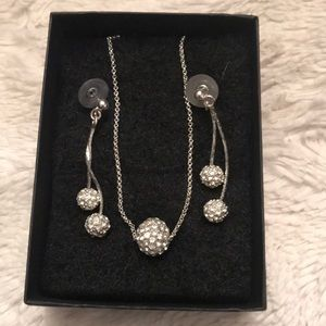 Monet sparkle necklace and earring set